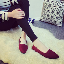 2017 Comfortable Casual Flat Shoes Women Slip On Work Shoes Spring Korean Shallow Mouth Pointed Toe Flats Ballerina Flats