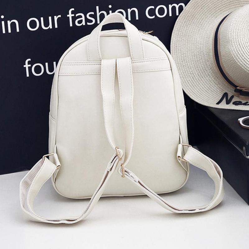 73387314a4fb 3pcs Set Elegant Female Backpacks Bowknot PU Leather Shoulder Bags Tassels  Round Chain school bags for teenage girls women s bag. Features