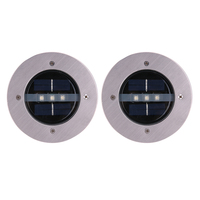 LED Outdoor Solar 3 Leds Begraven Lampen Waterdichte LED Grond Tuin Pathway Lamp Gazon Licht Zonne-energie Underground Lights