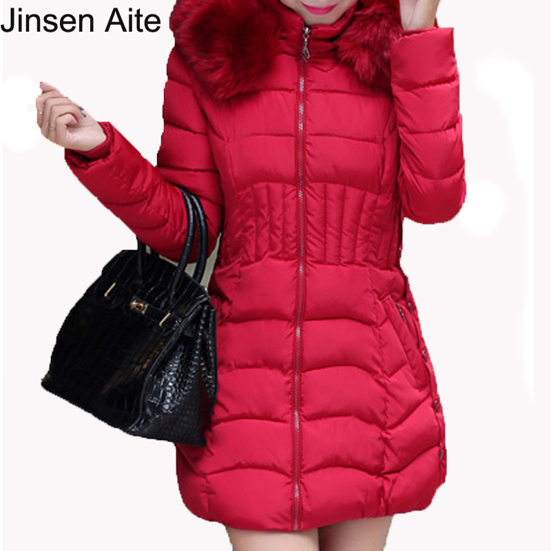 New Fashion Long Parkas Female Winter Coat Thick Cotton Jacket Parkas Solid Casual Slim for Women Winter Outwear Plus Size  3033 new fashion winter solid long sleeve womens coat plus size pink short down warm jacket casual parkas for women 65238