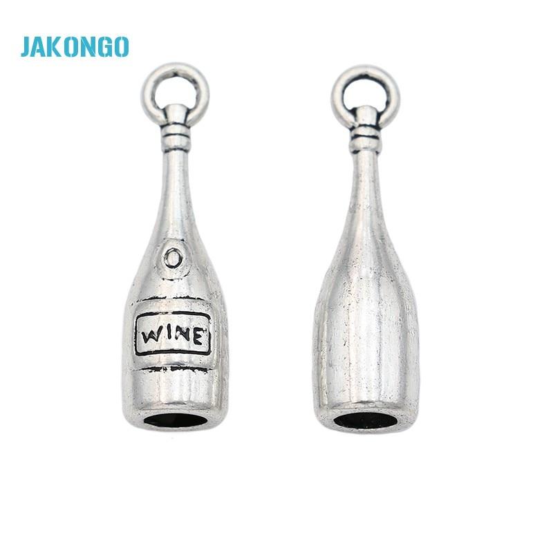 10 x Tibetan Silver Wine Bottle /& Glass Pendant Charms