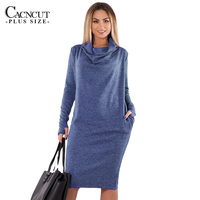 5XL 6XL Plus Size Winter Dress 2018 Vintage Big Sizes Women Office Dress Large Size Female