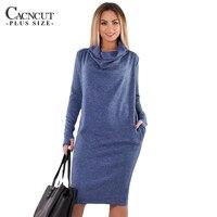5XL 6XL Plus Size Winter Dress 2018 Vintage Big Sizes Women Office Dress Large Size Female