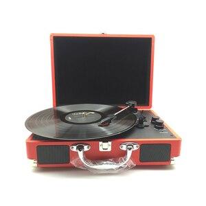 Image 1 - Reproductor de discos Retro USB DC 5V, 33RPM, gramófono antiguo, disco giratorio, Audio de vinilo, 3 velocidades, entrada Aux