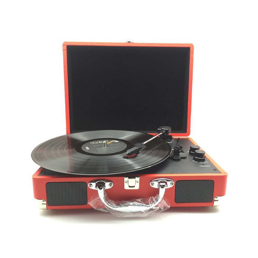 USB DC 5V Gramophones Retro Record Player 33RPM Antique Gramophone Turntable Disc Vinyl Audio 3-Speed Aux-in Line-out