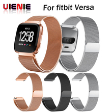 купить UIENIE Stainless Steel Mesh Milanese Magnetic Loop Wrist band Strap for Fitbit Versa Smart Watch Straps Watchbands Wristband New по цене 306.77 рублей