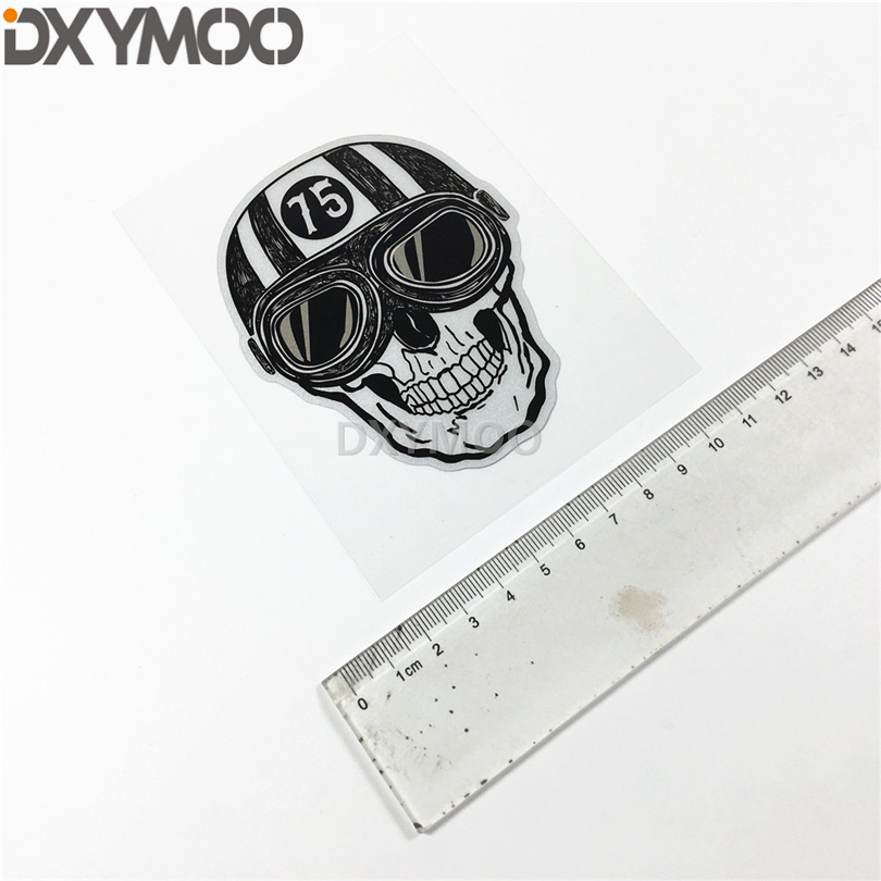 Motocross Racing Rider Decals Retro Street Culture Skull Cafe Racers  Motorcycle Helmet Sticker Car Styling 10x8cm-in Car Stickers from  Automobiles ... aa78cdcb6f4a