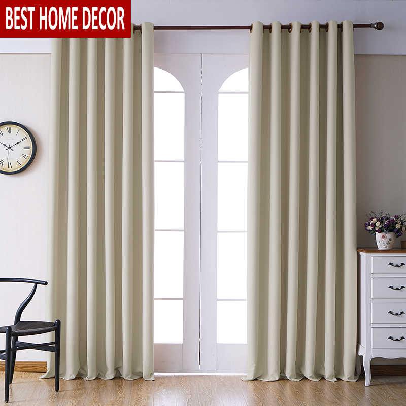 Modern Blackout Curtains for living room Bedroom Curtains for window drapes cream finished blackout curtains 1 panel blinds