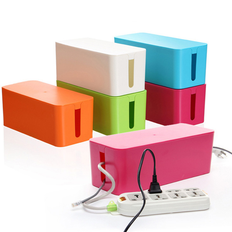 3 sizes white Plastic Wire Storage Box Cable Manager Organizer Box ...