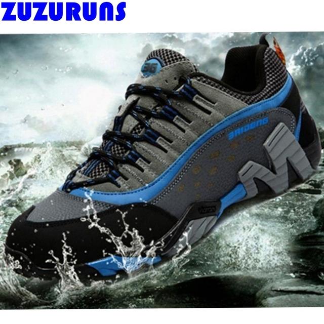 Homens low top planas botas sapatos impermeáveis sapatos de trekking respirável genuína sapatos de couro casual botas homens sapatilhas sapatos de escalada tornozelo h378