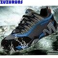 Los hombres-top botas planas botines impermeables zapatos de trekking escalada casuales de cuero genuino transpirable hombres entrenadores zapatos h378