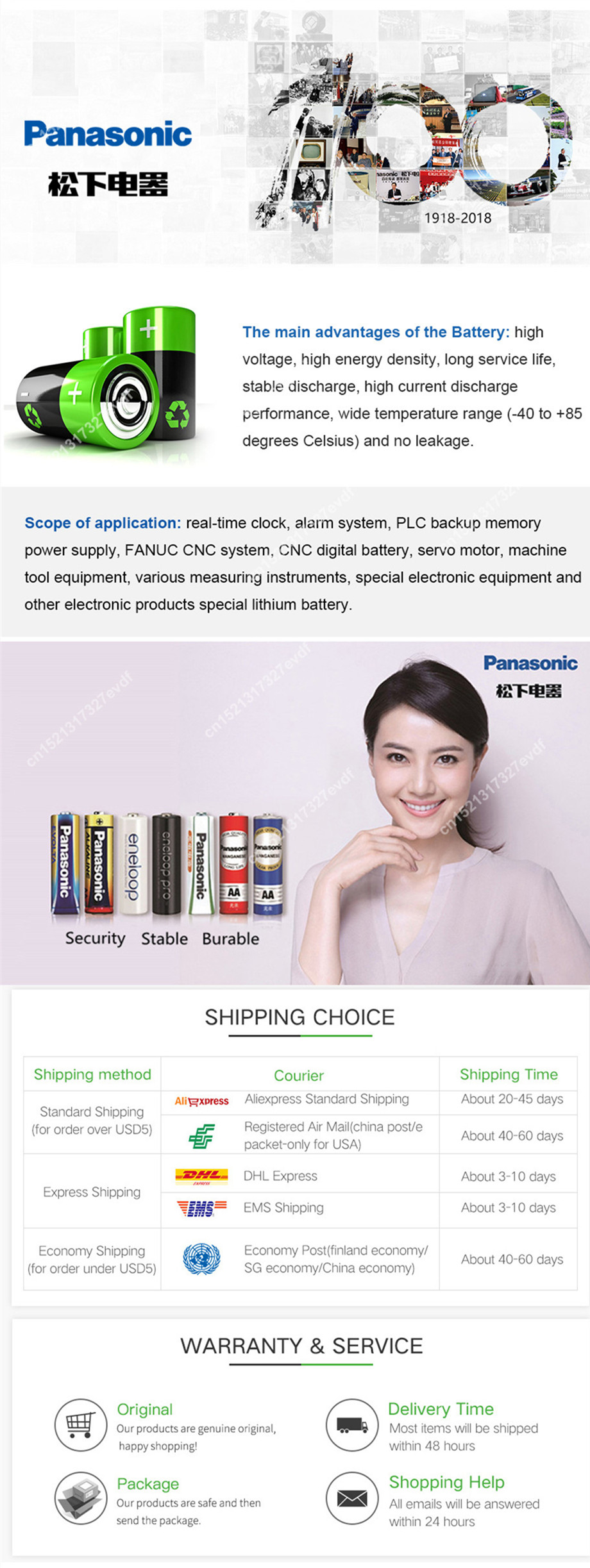 200 pçs lote 3V cr2032 Coin Bateria
