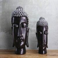 Sakyamuni Buddha Statue Large Buddha Head Decoration New Chinese Resin Crafts Club Decoration Home Decoration Accessories