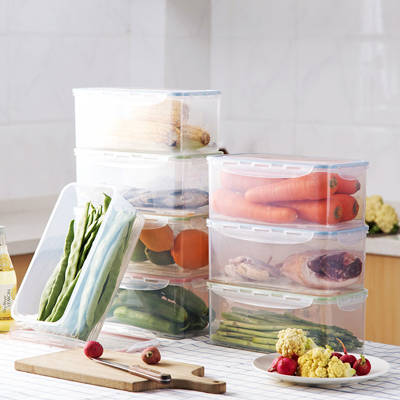 24d6c6bddf78 Online Shop Plastic food storage box refrigerator food frozen storage box  kitchen vegetables and fruit drain storage box