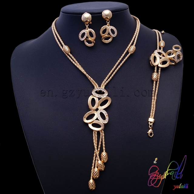 2016 wholesale women 18K gold plated jewellery sets Indian new