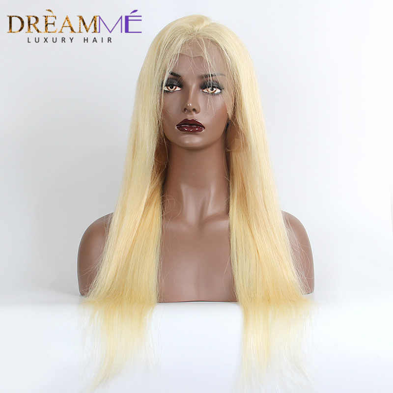 Dreaming Queen Hair 613 Full Lace Human Hair Wig Brazilian Remy Silky Straight Hair 130 Density