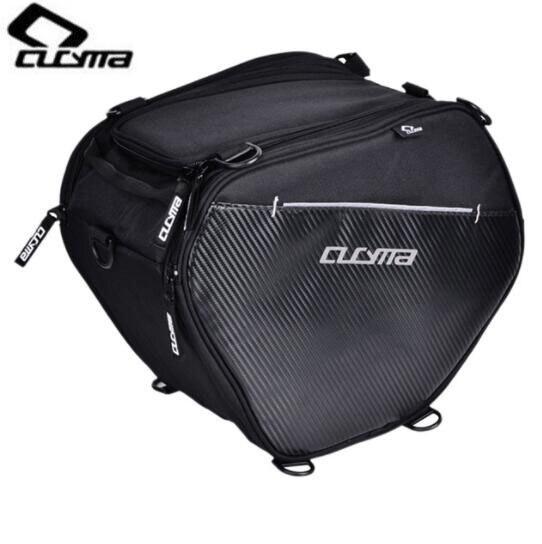 Sac de Moto CUCYMA sacs de voyage de course de Moto avec bandoulière sac de Tunnel de Scooter noir sacs de rangement avant de Moto 20-35L