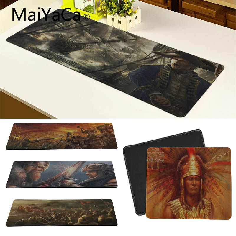 MaiYaCa My Favorite Age Of Empires Laptop Gaming Mice Mousepad Large Gaming Mouse Pad Lockedge Mouse Mat image
