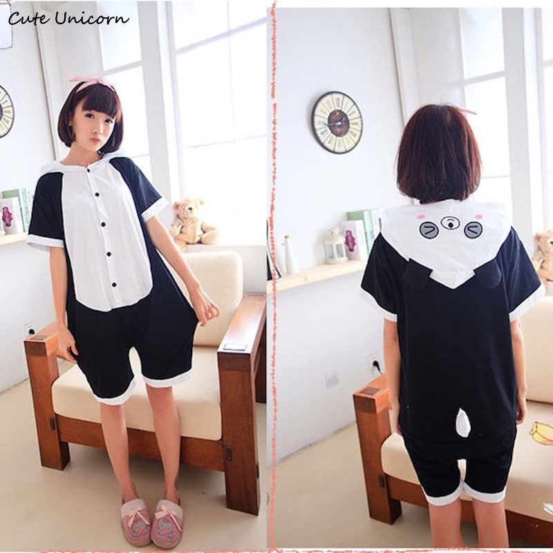 Cute Unicorn Panda Short Sleeve Animal Pajamas Summer Unisex Adult Cosplay Pijamas Cartoon Onesies homewear Pajama for men women