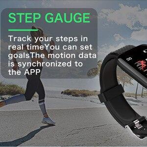 Image 2 - Smart Uhr Männer Blutdruck Herz Rate Monitor Milanese Edelstahl Smart Armband Sport Fitness tracker Smart uhr + Box