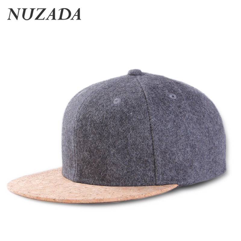 Brands nuzada 65% wool cork fashion simple men women sports hat hats...