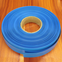 1kg Lithium Battery Pvc Heat Shrink Tubing Skin Polymer 18650 Insulation Film Tube Blue