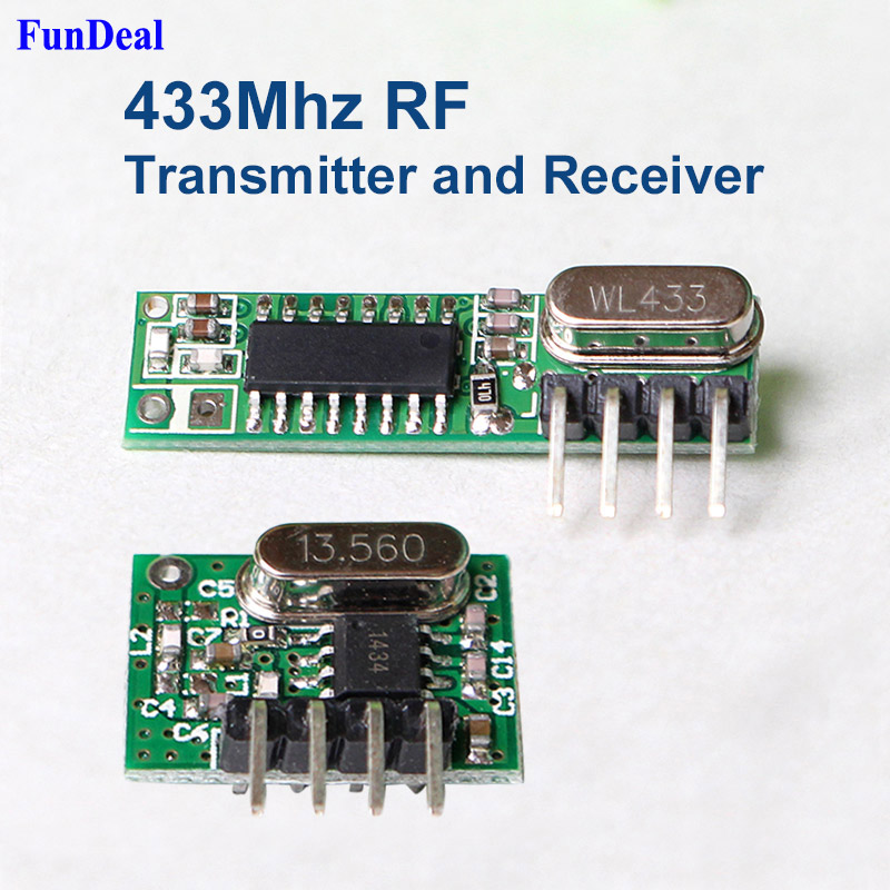 433Mhz RF Sender Empfänger Wireless Transmitter /& Receiver Module für Arduino