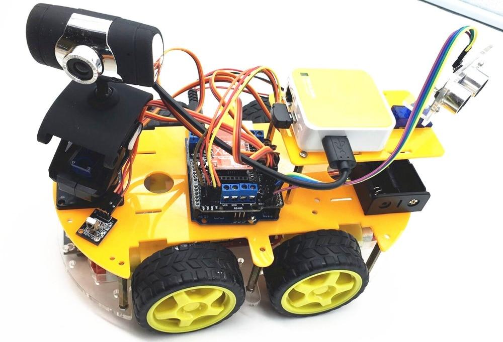 Students DIY smart car programmable robot arduino kit wifi ...