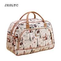 JXSLTC Large Capacity Travel Bag Women Duffle Luggage Bags Casual Tote Nylo Portable Waterproof Handbags Female