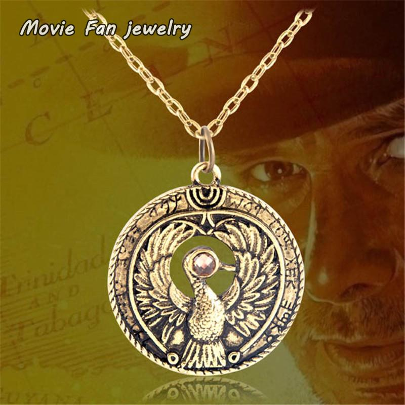 Antique gold <font><b>raiders</b></font> <font><b>indiana</b></font> <font><b>jones</b></font> <font><b>raiders</b></font> <font><b>of</b></font> <font><b>the</b></font> <font><b>lost</b></font> ark Pendant Necklace XL652