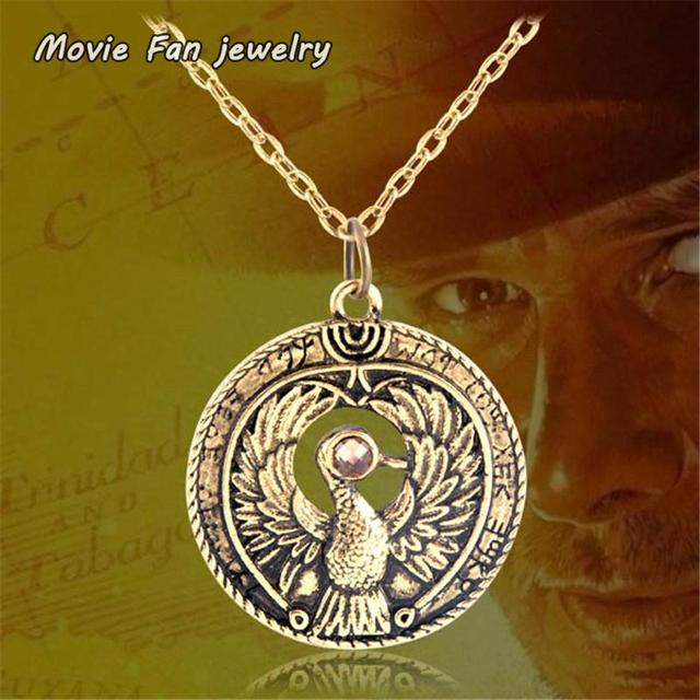 Antique gold raiders indiana jones raiders of the lost ark pendant antique gold raiders indiana jones raiders of the lost ark pendant necklace xl652 aloadofball Images