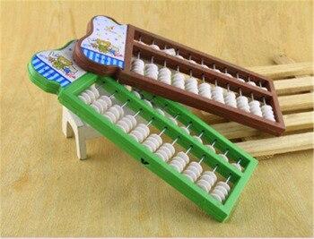 Ábaco juguete de Montessori dígitos chico de la Escuela de aprendizaje de matemáticas aritmética juguete chino Ábaco tradicional juguetes educativos para los niños