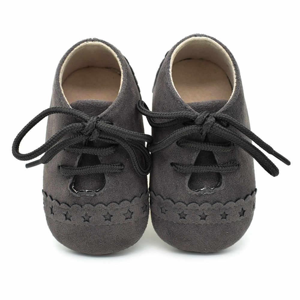 """Модная однотонная женская обувь со шнуровкой, обувь для новорожденного """"первые шаги"""", для детей ясельного возраста, белые и черные кроссовки со шнурками противоскользящая мягкая подошва тонкие туфли на сезон весна осень Bebe # L5"""