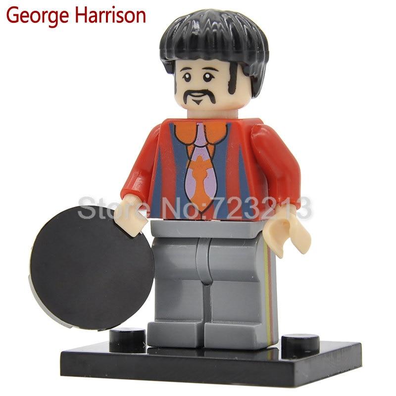 Single Sale Band Figure John Winston Lennon Paul McCartney George Harrison Ringo Starr Building Blocks Models Toys