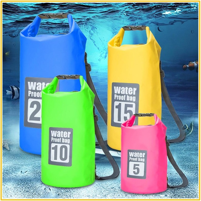 369916ab1f41 Quality Ultralight 5L/10L/15L/20L Waterproof Bags Storage Dry Sack Bag For  Canoe Kayak Rafting Outdoor Sport Swimming Bags-in Swimming Bags from ...
