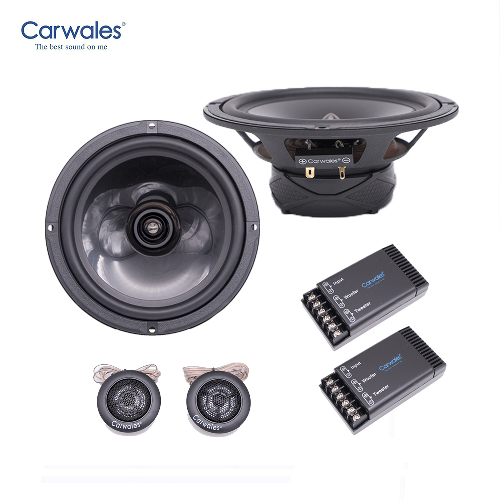 High Quality Carwales 6 5inch Speakers Audio Component 4ohm 250W with Tweeter Cross Over HIFI Car