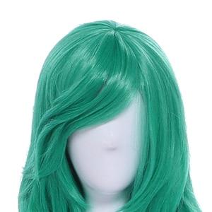 "Image 5 - L דוא""ל פאה LoL כוכב שומרים Soraka קוספליי פאות משחק ארוך ירוק גל פאת קוספליי ליל כל הקדושים עמיד בחום סינטטי שיער"