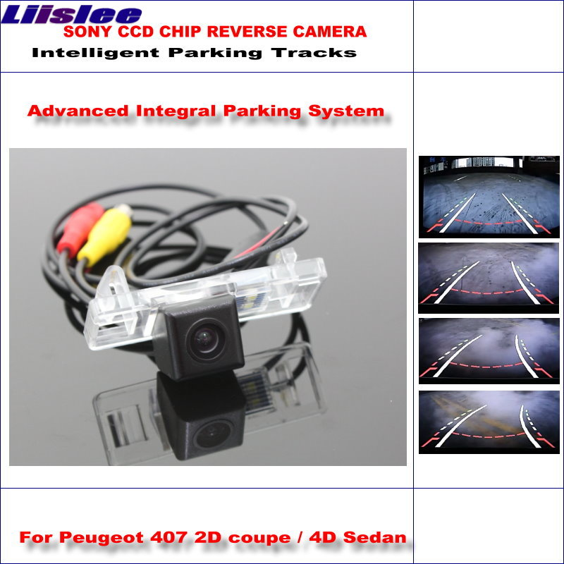 Liislee Dynamic Guidance Rear Camera For <font><b>Peugeot</b></font> <font><b>407</b></font> 2D <font><b>coupe</b></font> / 4D Sedan / 580 TV Lines HD Parking Intelligentized image