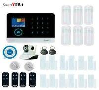 SmartYIBA IOS/Android APP WIFI GSM Ev Anti hırsız güvenlik alarmı Sistemi Kızılötesi Hareket Sensörü Uzaktan Duman/yangın alarmı Kitleri