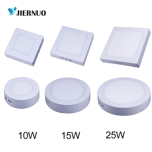 LED Panel Light 10W 15W 25W Round/Square Surface Mounted Christmas Indoor Decorating Lighting Ceiling LED Light With Driver