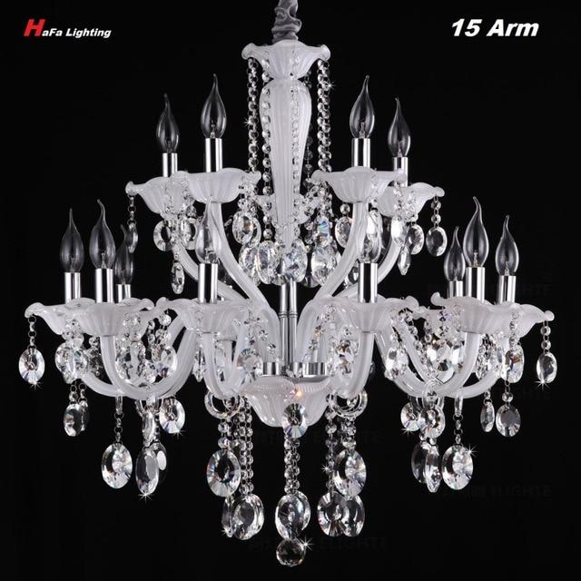 White crystal chandelier lamp living room luxury styl large crystal white crystal chandelier lamp living room luxury styl large crystal chandelier light stair light candle lamp aloadofball Gallery