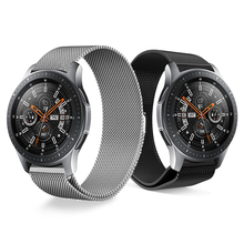 Купить с кэшбэком Metal stainless steel Milanese Loo Band for Samsung Galaxy Watch 46mm 42mm Wrist Strap Bracelet For Samsung Smart Watchband