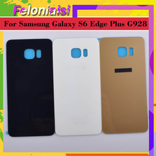 10Pcs/lot For Samsung Galaxy S6 Edge Plus G928 G928F Housing Battery Door Rear Back Glass Cover Case Chassis Shell Replacement цена и фото