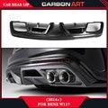 CLA CLASS W117 carbon fiber lip race splitter rear diffuser CLA260 CLA220 CLA200 sport edition bumper