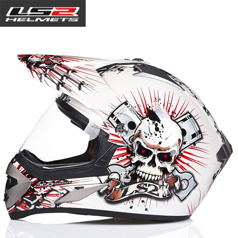 LS2 MX433 внедорожный мотоциклетный шлем с ветрозащитным щитом мотокросса шлемы костюм для мужчин и женщин одобренный ECE - Цвет: 5