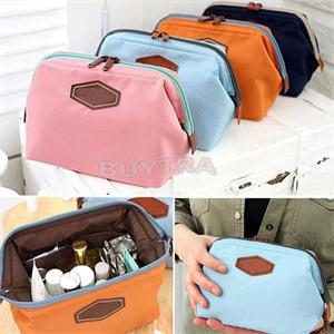 Buy 1pc  Candy Color Nylon Pencil Bag Pencil Case Capacity Stionery Makeup Storage Pounch Cosmetic Bag School Supplies for only 2.67 USD