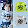 2016 autumn and winter hot boys fashion long sleeve T-shirt cotton printed letter pattern wear 3 colors