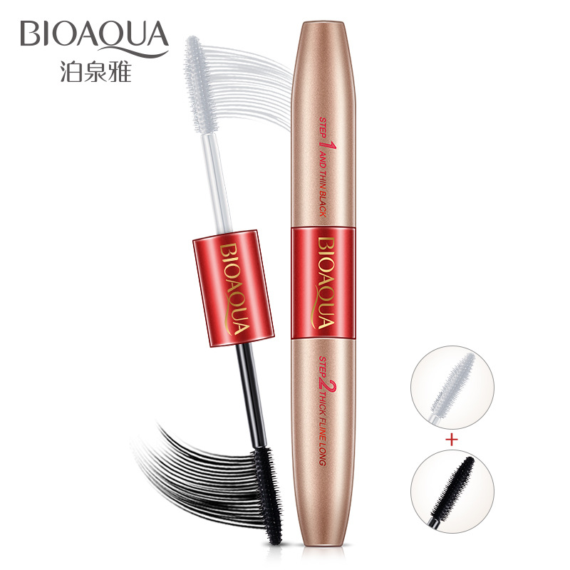 BIOAQUA Fashion Double Head Mascara Waterproof Long Lasting Lengthening Curling Thick Eye Eyelashe Makeup Women Beauty Essential