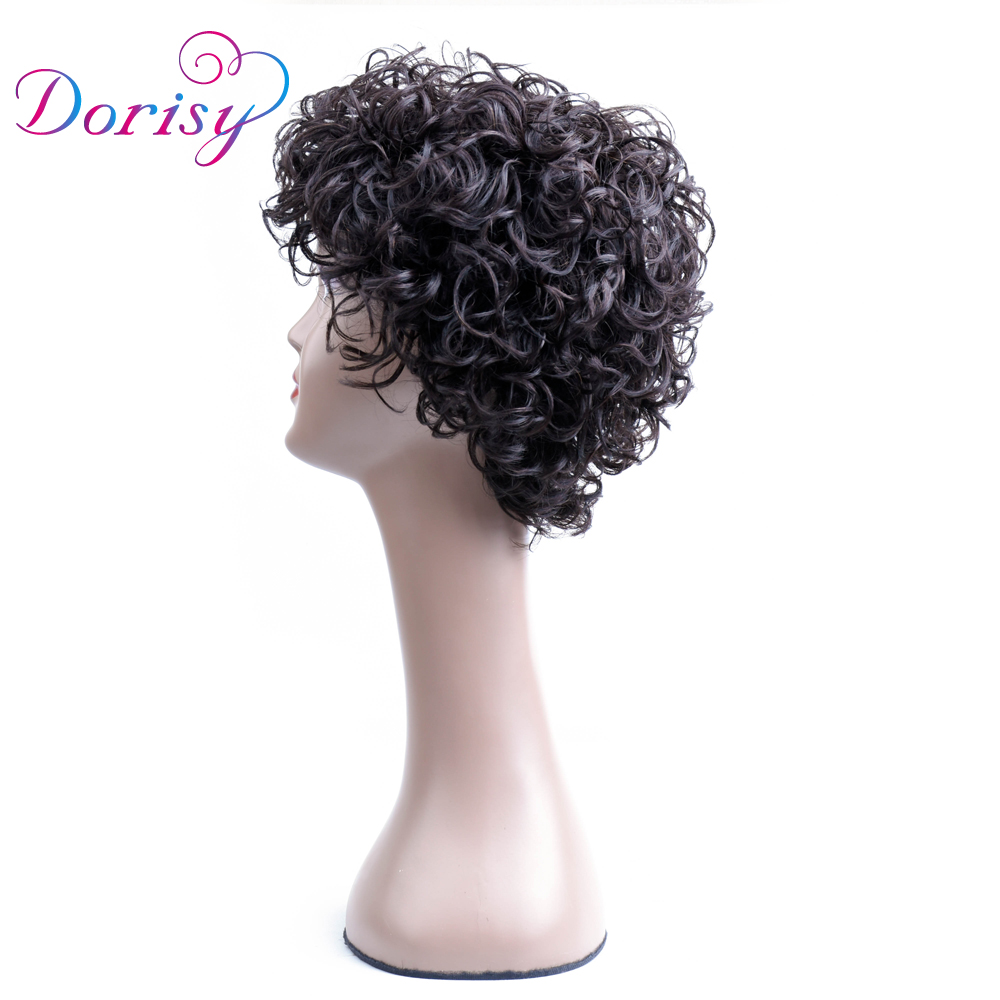 Short Curly Wig Natural Color Short Lace Wigs Indian Non Remy Human Hair Machine Made La ...