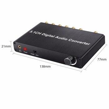 Adaptador De Cable De Audio Digital | (Enviar De Nosotros) Proster Control De Volumen 5.1CH Digital Audio Decodificador De Soporte Dolby AC-3/DTS 3,5mm Jack De Audio Adaptador De Convertidor